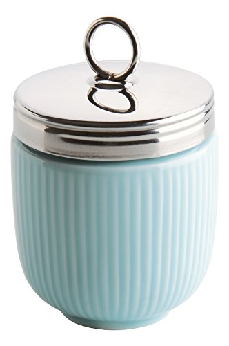 - DRH Celadon Blue Egg Coddler For Easy Cook Meals and Ways To Cook Eggs In Porcelain Dish