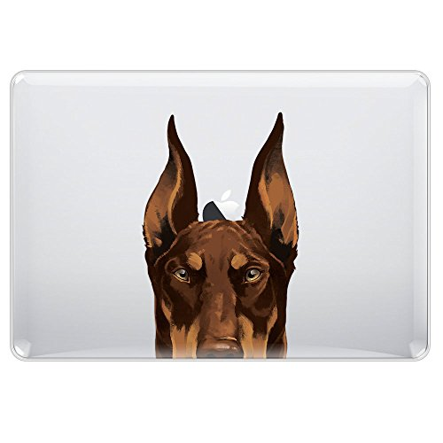 FINCIBO MacBook Air 13.3 Inch Case, Crystal Clear Hard Shell Transparent Protector Cover Case For Apple MacBook Air 13.3 Inch (Model A1369, A1466) 2011 - Red Chocolate Doberman Pinscher Dog (Ornaments Pinscher Red)