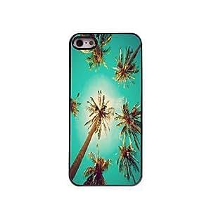 iPhone 5S Case, WKell Summer Coconut Design Aluminum Hard Case for iPhone 5/5S