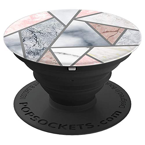 All Marble Stone Pink Grey White Stone Granite Pop Socket - PopSockets Grip and Stand for Phones and Tablets