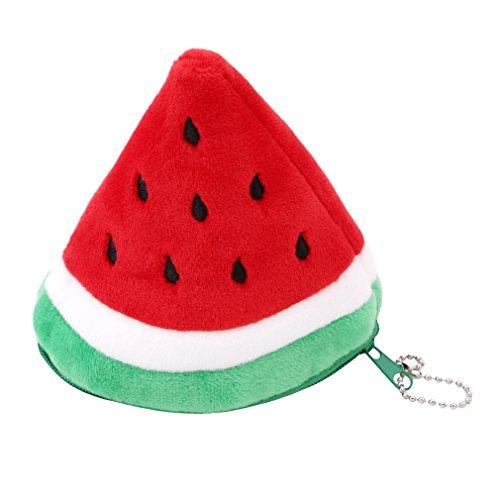 ODN Fruit Klein Stift Bleistift Fall Schule Tasche Werkzeug Münze Tasche Handy Tasche Münztasche (Dreieck Wassermelone) Dreieck Wassermelone 07s5haKKq7