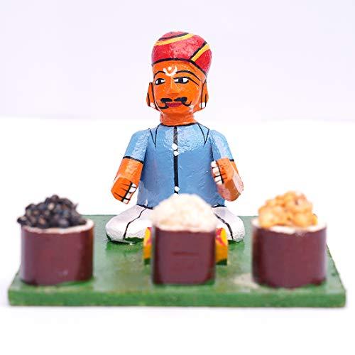 Andhra Hand Crafts Kondapalli Handmade Wooden Sitting Toy Size -(5X5X3.5) Inch