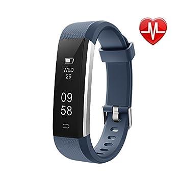 SODIAL Fitness Tracker con monitor de frecuencia cardíaca, reloj de actividad deportiva delgado, podómetro