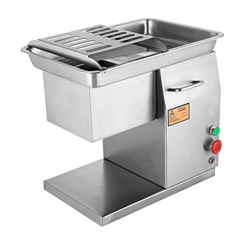 Mophorn Meat Slicer 250KG/H 550W Stainless Steel Fresh MeatCutter Commercial Grade Restaurant Meat Processing Machine ElectricSlicer 3mm Cutting Blade (250KG/H 550W)