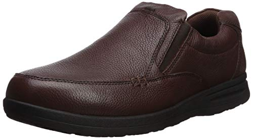 (Nunn Bush Men's Cam Moc Toe Slip On Casual Lightweight Comfortable Loafer with Comfort Gel and Memory Foam, Brown Tumbled, 8.5 X-Wide)