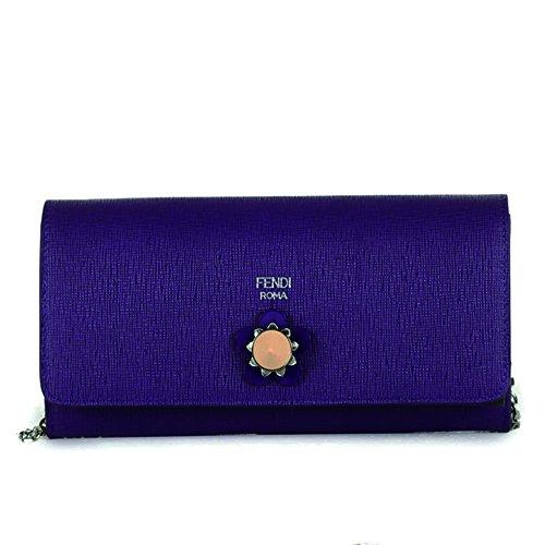 Fendi Crayons Long Leather Chain Wallet 8M0365 - Purple