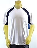 Men's Reebok Hydromove Athletic T-Shirt Short Sleeve White/Navy