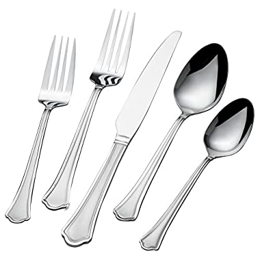 International Silver Capri Frost 51-Piece Stainless Steel Flatware Set, Service for 8
