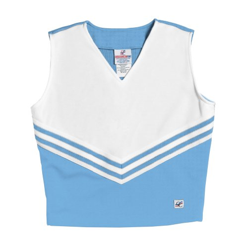 V-Neck Cheerleading Shell, AS, Columbia Blue