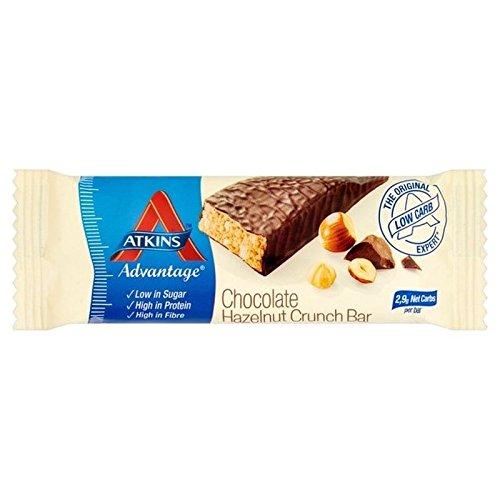 Atkins Advantage Chocolate Hazelnut Crunch Bar - Eight Lewis John Phase