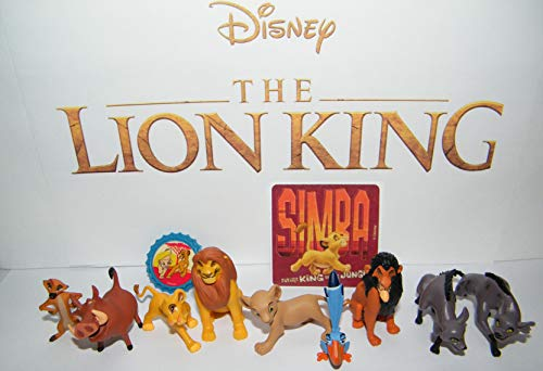 The Lion King Movie Deluxe Party Favors Goody Bag Fillers 12 Set with 10 Figures, 1 Sticker and ToyRing Featuring Mufasa, Simba, Pumbaa, Timon and More!