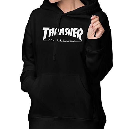 più economico e7f23 d1ae0 Thrasher Magazine Women's Lone Sleeve Hoodies Sweatshirt Fashion Graphic  Pullover With Pocket S