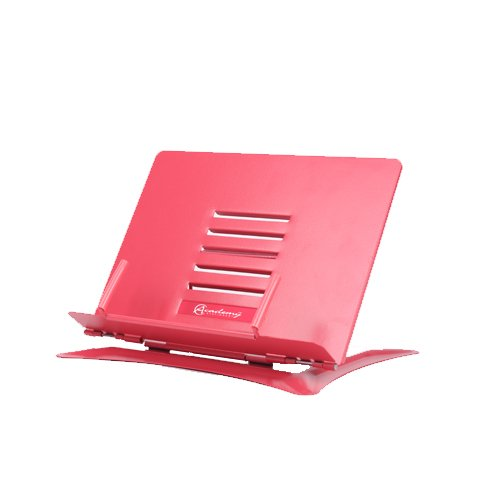 Book Stand - Heavy Duty Steel Adjustable Foldable Tray Portable Tablet Stand Holder (Pink, Small)
