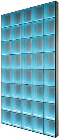 BPM Light My Wall iluminada de cristal de pared de piedra de ladrillos de vidrio en el formato 19 x 8 cm tamaño total: B 78,0 x H 234,0 cm: Amazon.es: Bricolaje y herramientas