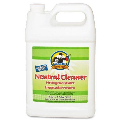 Genuine Joe Gjo10361 Concentrated Citrus Scent Neutral Liquid Solution Cleaner  1 Gallon Bottle  White