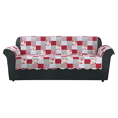 Pink Heirloom Cottage Patchwork Sofa Furniture Cover - Sure