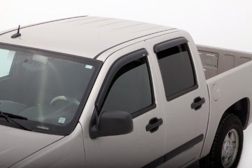 Auto Ventshade 94133 Original Ventvisor Side Window Deflector Dark Smoke, 4-Piece Set for 2004-2012 Chevrolet Colorado/GMC Canyon with Crew Cab, 2004-2010 Isuzu D-Max with Double Cab -