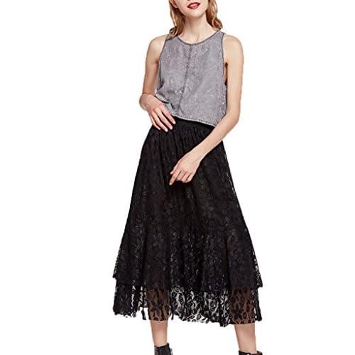 hot sale online 7d423 11de9 gute Qualität Damen Maxi Rock Sommer Röcke Elastische Taille ...