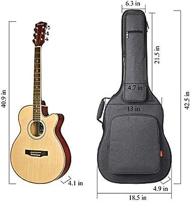 CAHAYA Waterprooof 41 - Funda para guitarra acústica (106,7 cm ...