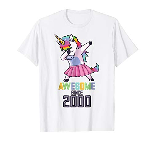 d02acd91d624 Unicorn dabbing shirt funny gift 19 year old bday il miglior prezzo ...
