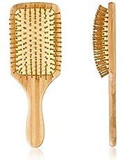 أدوات تصفيف الشعر ، مشط تدليك خشبي صغير الحجم ومريح للرأس ، مشط فرشاة شعر من الخشب الطبيعي