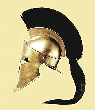 Casco de Leónidas, rey espartano, de la pelí ...