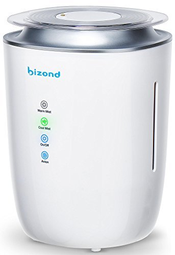 Ultrasonic Humidifier Warm and Cool Mist - Ultra Quiet Humidifier for Bedroom, Home, Office and Kids Room - 24h Air Humidifier, Aroma Box for Oil and Energy Efficient - 4l Capacity, Updated ...