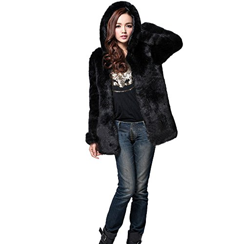 JESPER Women Winter Faux Fur Coat Cashmere Imitation, used for sale  Delivered anywhere in USA