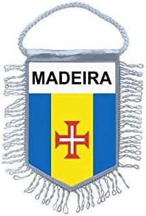 Akachafactory Fanion Mini Drapeau Pays Voiture Decoration madeire Madeira Portugal