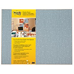 Post-it Cut-to-Fit Display Board, 18 x 23-Inches, Ice color with 2 Attachments by Post-it