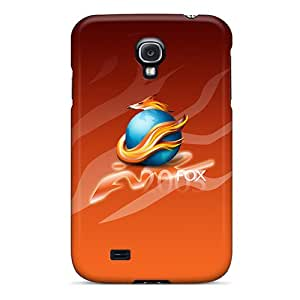 Snap-on Case Designed For Galaxy S4- Fire Fox