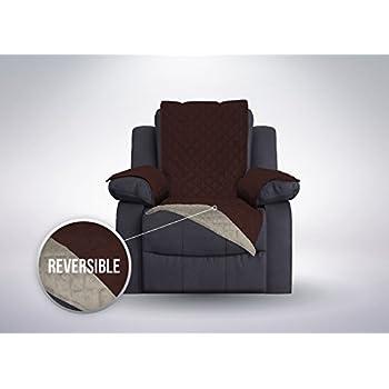 Amazon Com Set Of 2 Stretch Armrest Covers Chocolate