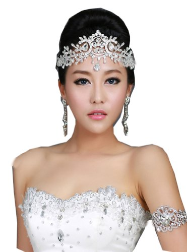 Wiipu Bridal Crystal Tiara Crown Hair Accessories For Wedding Quinceanera Tiaras (Snake Crown)