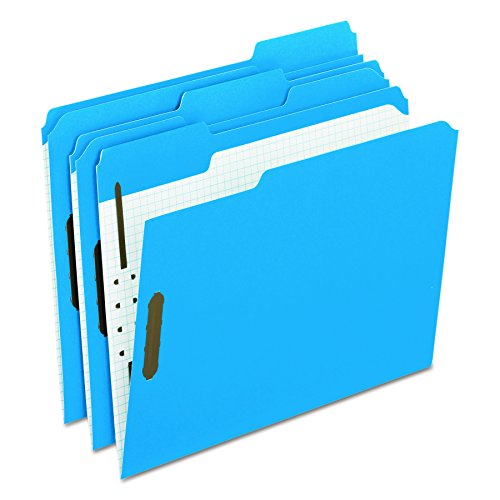 - Pendaflex Folders with Embossed Fasteners, 1/3 Cut, Top Tab, Letter, Blue, 50 Per Box,(21301)
