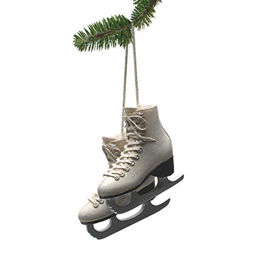 Abbott Collection Resin Figure Skates Ornament, Ivory