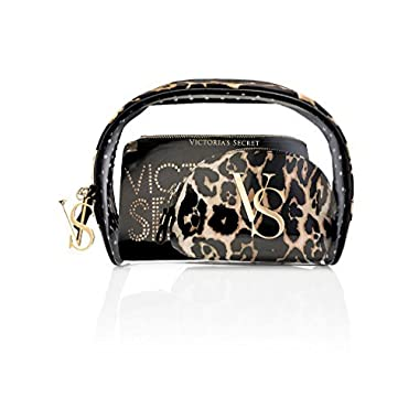 Victoria's Secret Leopard Cosmetic Bag Trio