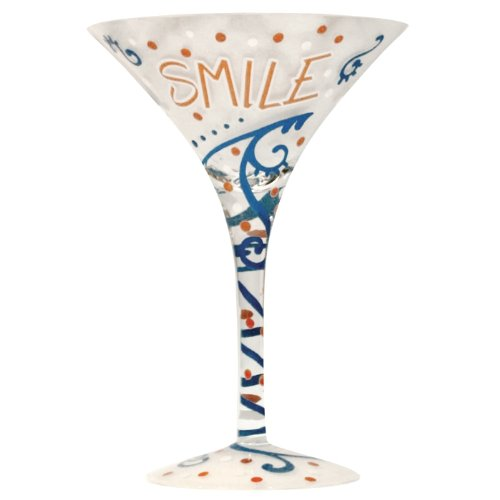 Westland Giftware 7-Inch Smile Martini Glass, 7-Ounce by Westland Giftware