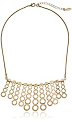 "Kensie ""Cherry Blossom Girl"" Gold-Plated Hexagon Bar Shower Necklace"