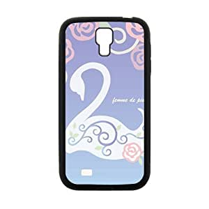Elegant Swan And flowers personalized creative clear protective cell phone case for Samsung Galaxy S4