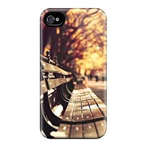 Hot Style LLfgolP1425IpNFY Protective Case Cover For Iphone4/4s(park Benches)