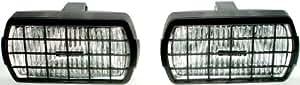 Ring Automotive RL023G - Faros rectangulares antiniebla con rejilla protectora