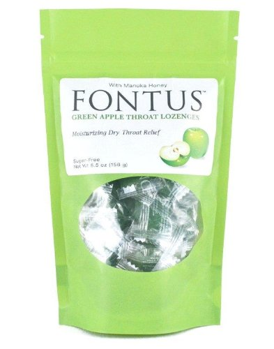 Ocusoft Fontus Throat Lozenges, Green Apple, 5.5 Ounce