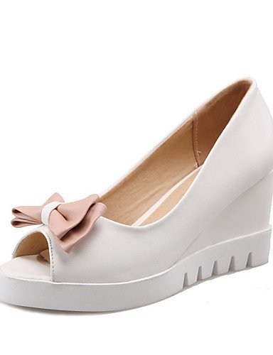 Weiß Sandals Casual Weiß Damenschuhe Keilabsatz Pink Wedges Blau Dress ShangYi UxFBwq8t