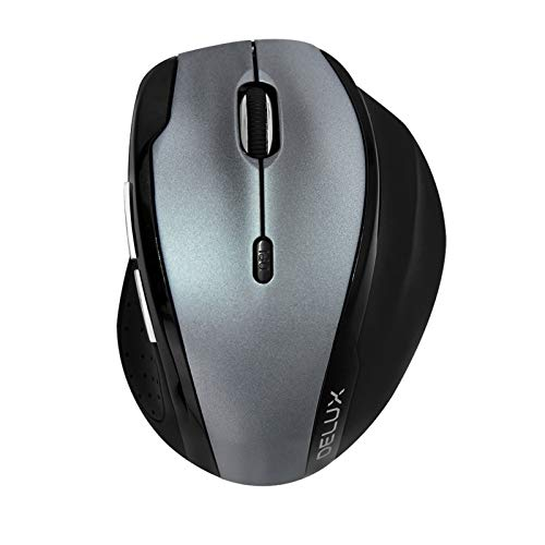 Epinki Wireless Mouse 2400dpi, with 6 Buttons M620-Silver Ergonomic Mouse for Laptop, PC, Desktop -