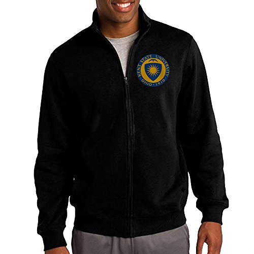 Simoon Kent State Seal Men's Solid Stand Collar Zipper Jacket Size XL