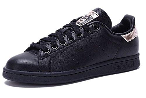 adidas Originals Frauen Stan Smith W Fashion Sneaker Schwarz / Roségold / Schwarz
