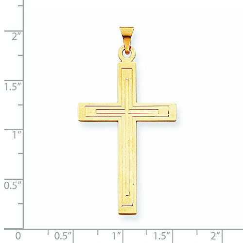 Pendentif Croix en or 14carats-Dimensions 25,6x 48.3mm