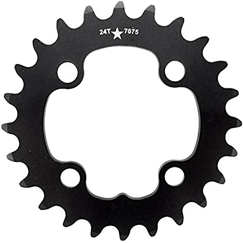 USA Made 64mm BCD 24T 4-Bolt SharkTooth Pro Mountain Chainring MADE IN USA (9 Speed 64mm 4 Bolt)
