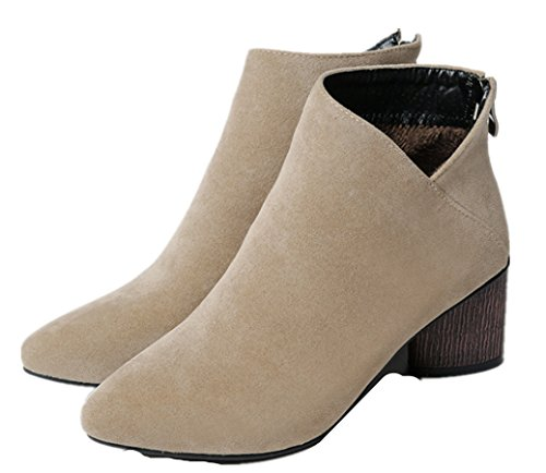 WLITTLE Sandalias de Vestir de Material Sintético Para Mujer caqui