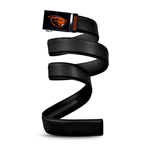 NCAA Oregon State Beavers Mission Belt, Black Leather, Large (up to 38)